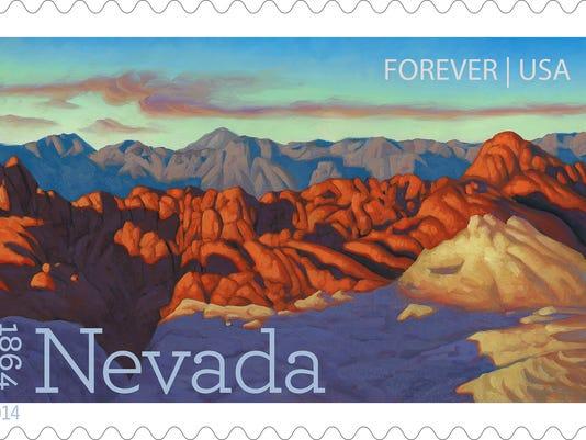 SUU Art Professor Nevada 150 Anniversary of Statehood Stamp.jpg