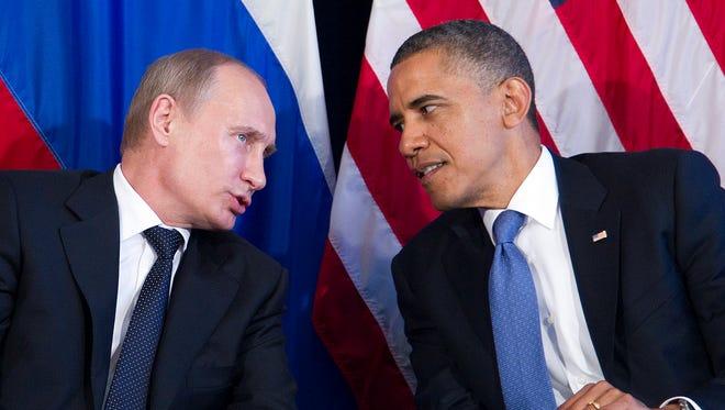 President Obama and Vladimir Putin in 2012.