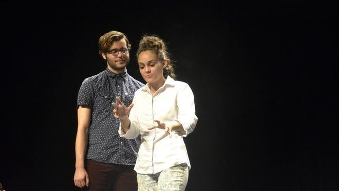 "Patrick Alvarez and Asdrubal and Jelysbeth Bobadilla as Christy in FSU's ""One Hundred Years of Hope""."