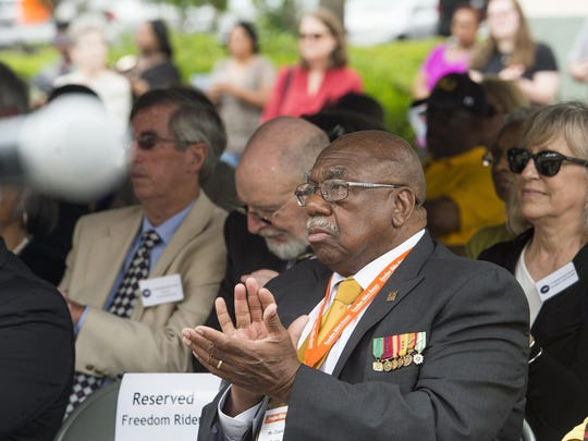 Charles Person attends the 55th Anniversary Commemoration of the Freedom Rides at the Freedom Rides Museum.