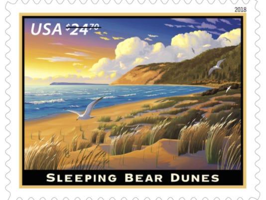 Sleeping Bear Dunes Stamp