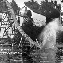Arnold's Park started with a water slide.