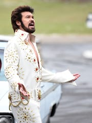 "A production crew films Billy Ray Cyrus for CMT's ""Still the King,"" which airs Sundays."