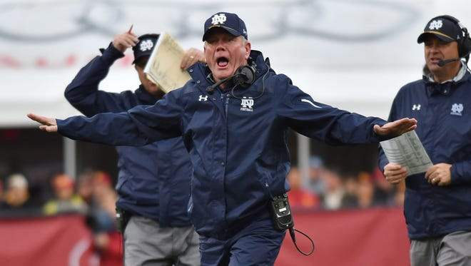 Notre Dame coach Brian Kelly said he spent too much time fundraising last season.