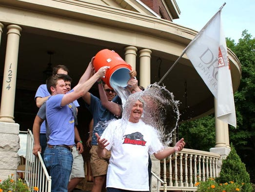 Dr. Manuel accepted a challenge from Drury University men's head basketball coach, Steve Hesser, Drury's Sigma Pi fraternity and Springfield Police Chief Paul Williams. He challenged presidents and administrators of three other universities.