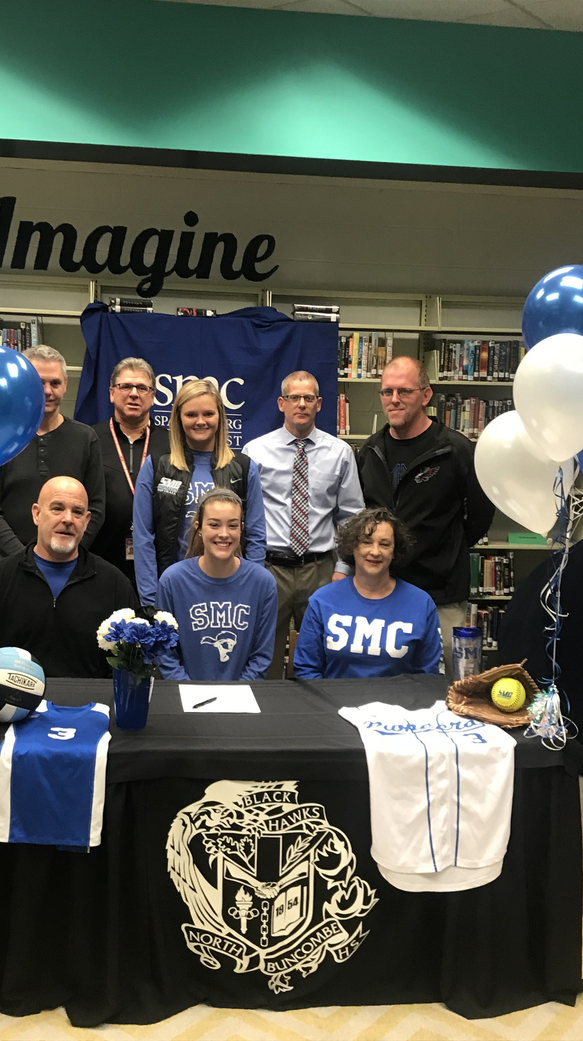 North Buncombe senior Abbey Darress signed her national letter of intent to play softball and volleyballfor Spartanburg Methodist College.