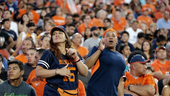 UTEP fans cheer on their Miners despite a deep defecit