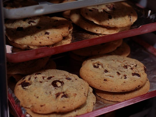 Baked onboard chocolate chip cookies were offered on every Midwest Airlines flight.