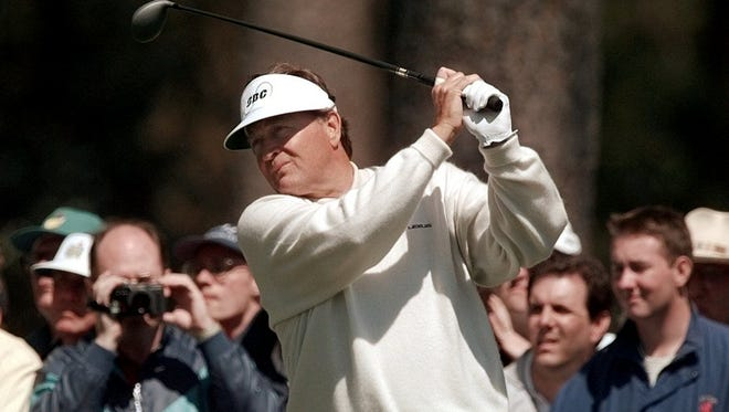 Raymond Floyd shown during the 1996 Masters. On Tuesday, Floyd was chosen as a vice captain for the Ryder Cup by Tom Watson.