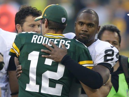 Rodgers, Woodson, Lambeau, 2014