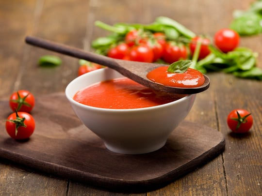 Tomato, Roasted Bell Pepper & Basil Soup