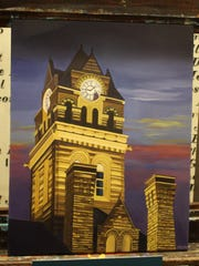 Suzy Coykendale Majewski's rendition of the courthouse
