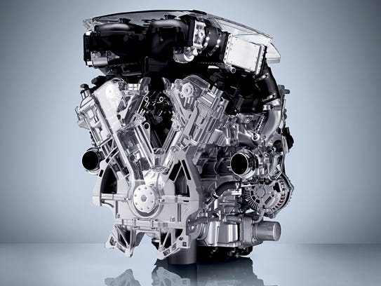 Infiniti Q50 3.0L turbocharged V-6 engine
