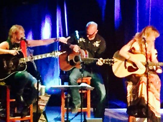 Miranda Lambert, Jon Randall and Jessi Alexander at 3rd and Lindsley.