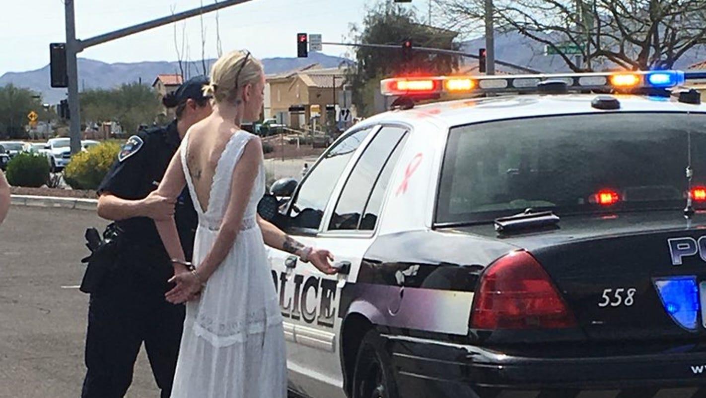 Bride gets DUI after car crash en route to wedding in Arizona