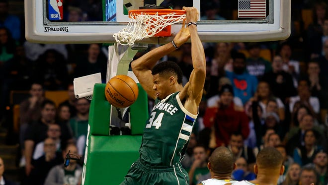 Giannis Antetokounmpo scored a team-high 22 points for the Celtics.