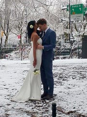 Nesh Pillay and Aaron Vanderhoff were married Friday by Fire Department of New York Chaplain Ann Kansfield. Kansfield performed the wedding ceremony between the two following a crane crash that killed one in NYC.