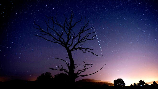 A meteor was sight in the northern Indiana sky Tuesday night.