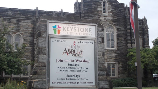 Asbury Church, at 340 E. Market St., in York City, will house Keystone Christian Academy in the 2018-19 school year.