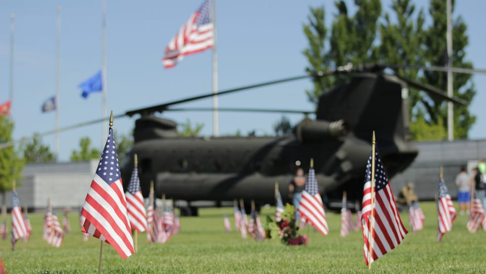 A Chinook helicopter was on display at the Northern