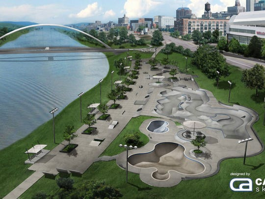 Rendering of the planned Des Moines Regional Skatepark.