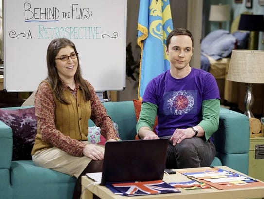Amy (Mayim Bialik) and Sheldon (Jim Parsons) in 'Big