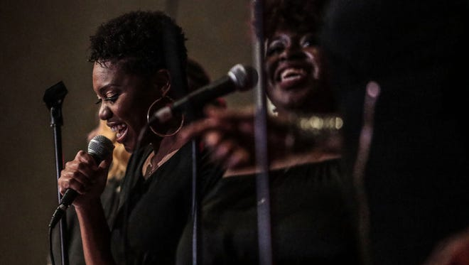 Maree Reed, Ophelia Harper and two others of The Ladies of the Firm Foundations gospel group perform at the Palm Springs Women's Jazz Festival on Sunday, November 5, 2017 at the Riviera Palm Springs.