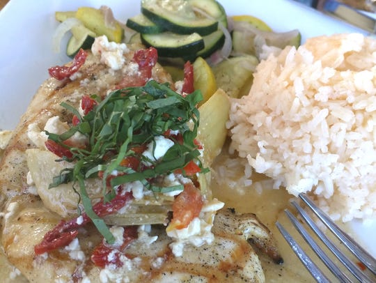 Post & Vine's Mediterranean chicken was a char-grilled