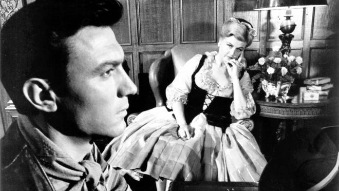 "Laurence Harvey and Angela Lansbury in ""The Manchurian Candidate"""