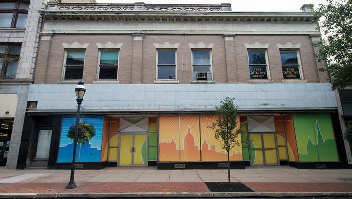 The former Woolworth building in the first block of