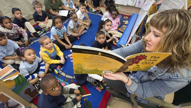 York City School District's proposed budget for next year include one new district-funded pre-kindergarten class. Shown here is a pre-kindergarten class at Devers K-8 School.