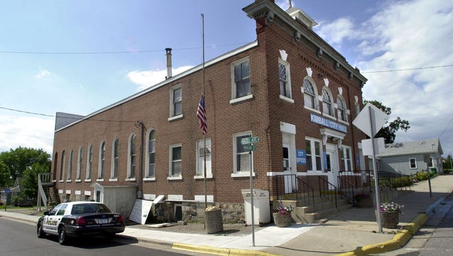 The city of Kimball will use a state grant to build a new library. The library now shares space in City Hall, shown here.