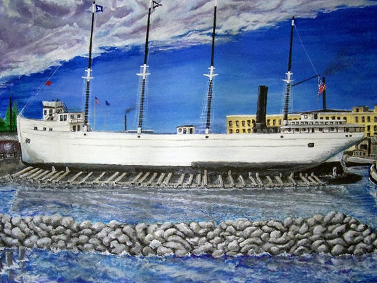 A painting of the SS Helena by artist Edward Wittrock  will be on display during the SVA Final Friday exhibit from 6 to 10 p.m. on June 24 at EBCO Art Works.