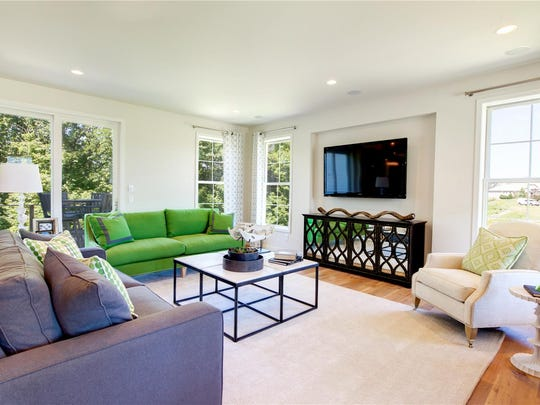 Simplify window treatments to let green inside in spring.