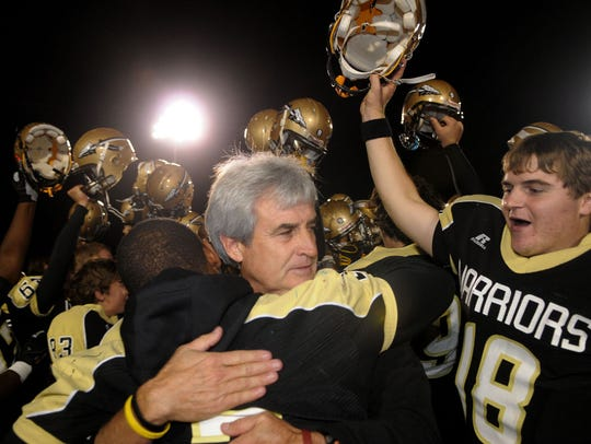 Nevil Barr, who will be inducted into the Mississippi Association of Coaches Hall of Fame in June, won three South State championships and one State championship in 14 seasons at Oak Grove.