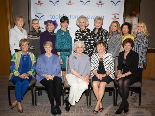 VISIONARIES Board seated from left: Judy Mathes, Barbara Klein, Louise Escoe, Judith Antonio, Jennie Inch;  standing from left: Marlene Cox, Sue Fromkin, Alaina Bixon, Nancy Nevl, Jean Carrus, Claire Smith, Irma Smith, Flo Wolff, Carole Westrick-Bomar