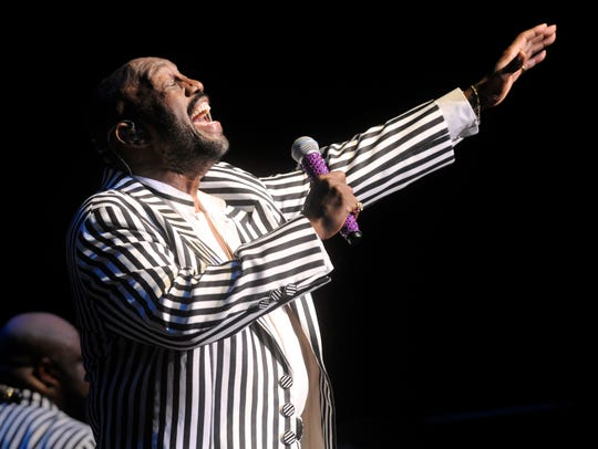 Otis Williams performs with the group in 2015 at the