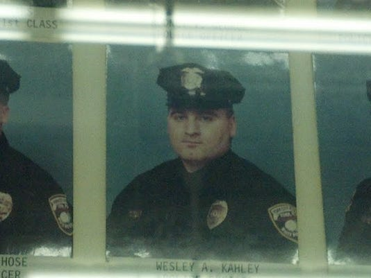 Center, is Chief Wes Kahley when he was an officer with York City Police.