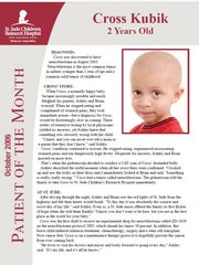 More than a year into his treatment, Cross Kubik was celebrated as the Patient of the Month by St. Jude.
