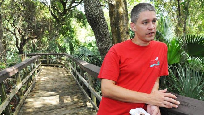Brevard County Parks & Recreation's Brandon Smith, environmental project supervisor at Riverwalk Park in Rockledge.
