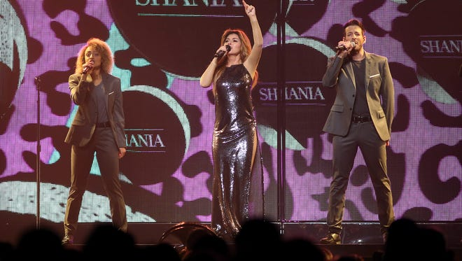 Shania Twain performs at the Denny Sanford Premier Center on Wednesday night in Sioux Falls, SD.