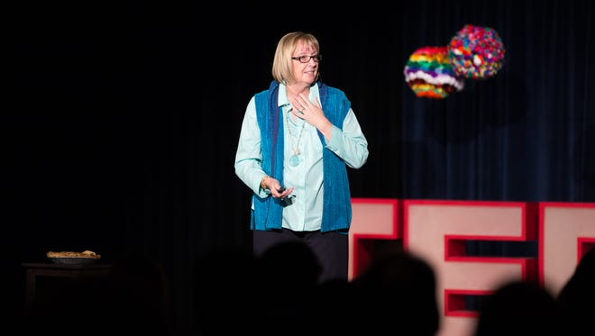 Vickie Hardin Woods gives a TEDxSalem talk at the 2015 event. The 2017 event returns Jan. 7.