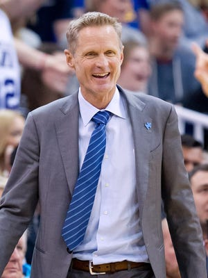 After missing the first 43 games of the regular season, Steve Kerr's Warriors won an NBA-record 73 games.