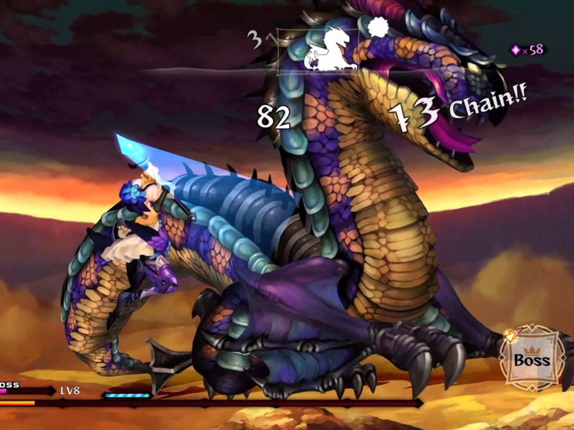 Hectic boss fights are part and parcel of Odin Sphere