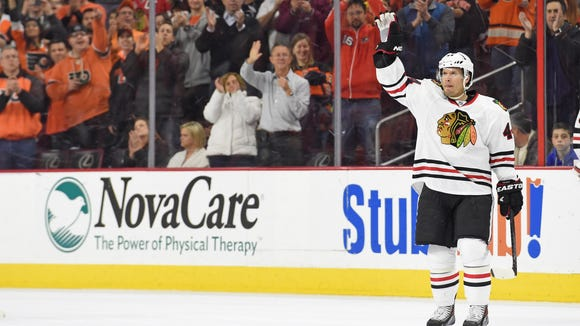 Kimmo Timonen hasn't been much of a force for the Chicago Blackhawks.