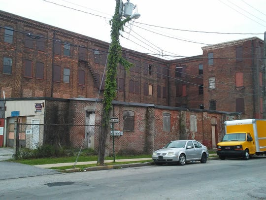 The rear of the Weaver Piano & Organ Company building
