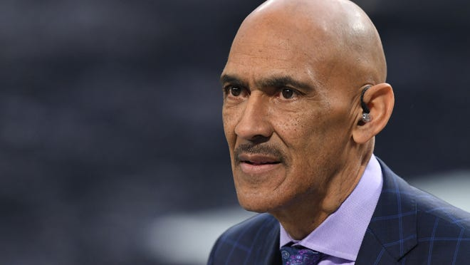 NBC analyst Tony Dungy, a former player and coach, believes the Browns will be able to operate as they have despite the absence of coach Kevin Stefanski, who will miss Sunday night's AFC wild-card playoff game against the Pittsburgh Steelers because of a positive COVID-19 test. [John David Mercer/USA TODAY Sports]