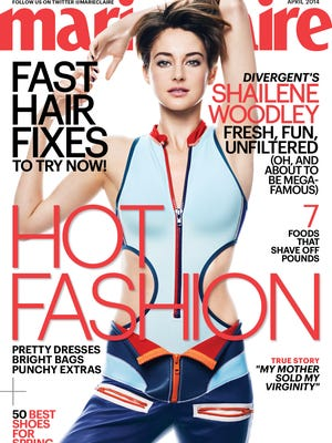 Shailene Woodley covers the April issue of 'Marie Claire' mag.