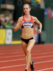 Molly Huddle competes in the first round of the women's 5,000 meters July 7 during the U.S. Olympic Track & Field Team Trials at Hayward Field in Eugene, Oregon.