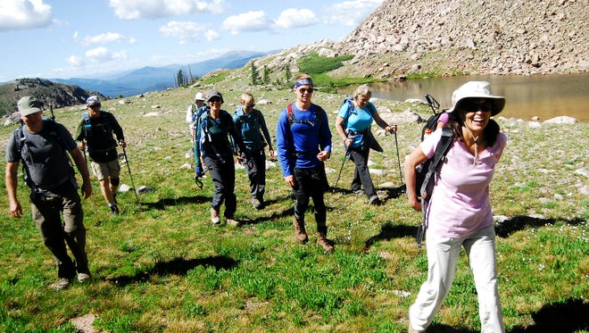 A group of hikers joined Xplore reporter Stephen Meyers for a hike to Clark Peak in State Forest State Park last summer, as part of the Coloradoan's summer hiking series.